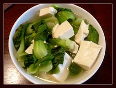 青菜豆腐保平安 The Chinese says green leaves and tofu will keep you healthy - and this is totally my ideal comfort food, best with stock :)