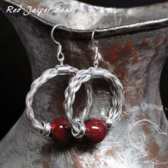 Cinnie Earrings, Horse hair earrings with sterling silver and natural stone, $52.00 www.spirithorsedesigns.com