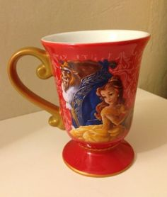 Amazon.com: Disney Store Disney Fairytale Designer Collection Princess Belle and Beast Mug: Beauty and the Beast Coffee Cup: Home & Kitchen