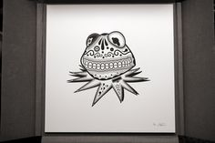 Kermit Day Of The Dead Print