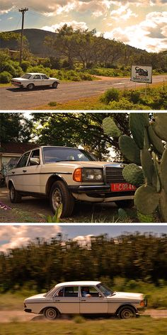 Dream roads: The Mercedes-Benz 200 W123 in Kenya. Read about more classic beauties like this! Photo taken by Jens Tanz (http://www.sandmanns-welt.de/).
