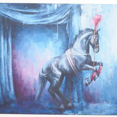 The blue background and rose tinted accents highlight this magestic #horse very nicely.  Well done indeed.  #oilpainting #painting #art #fineart  # # #kunst #instaart #искусство #미술 #藝術 #美術 #artistsofinstagram #instafun #artisbeauty #artiseverywhere #artchisel  About the Artist: Morgan grew up on a farm in Maine and brings her love of nature and God's creations to her canvases. She also does #petportraits on commission. @morgancameronart  Get new art in your feed daily. Follow @artchisel…