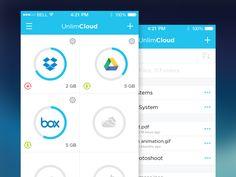 Free Cloud Storage App UnlimCloud | Mobile App User Interface Design