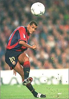 """Rivaldo"" Rivaldo Vítor Borba Ferreira, born 19 April Brazilian attacking midfielder or second striker, FC Barcelona Club Football, Football Icon, Best Football Players, Good Soccer Players, World Football, Football Pictures, Soccer World, Sport Football, Football Soccer"