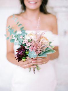 Rustic bridesmaid wedding bouquet: http://www.stylemepretty.com/2015/11/13/authentic-provence-wedding-inspiration/   Photography: Le Secret d'Audrey - lesecretdaudrey.com