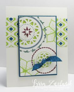 Oh my!!! See that NEON LIME green? It's one of the new 2017-19 InColors from Stampin' Up! I got my preorder box to prepare samples for the sneak peek of the Eastern Palace bundle (available EARLY for EVERYONE beginning May 1st!) and three of the colors are from the newest collection. Lemon Lime Twist is BRIGHT and FUN to work with. It is perfect in small pops--really packs a punch. I can't wait to play with this one in different color combinations. I think it's going to be rea...