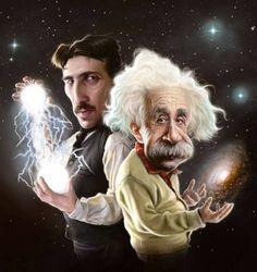 Nikola Tesla and Albert Einstein