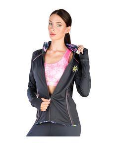 Elle sport - collezione utopia - giacca tecnica da donna con cappuccio, chiusura…