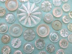 Clear Vintage Buttons