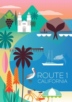ROUTE 1 CALIFORNIA POSTER