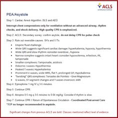 ACLS 2014 Unofficial Cheat Sheet- PEA/Asystole