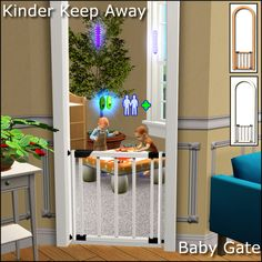 Updated 2-25-13  Here's a MTS Is Still Down gift for my followers (100+ now, thank you!). It's the Kinder Keep Away baby gate from the Sims 3 Store World, Aurora Skies.  Fully Functional (toddlers can't go through the gate on their own, they have to be carried)  Base Game Compatible  Catalog Sort:Doors / $200Polygon Counts:Faces: 1290Vertices: 1748Issues:You can't use the design tool when the gate is placed on a diagonal wall. So before you place the door it needs to