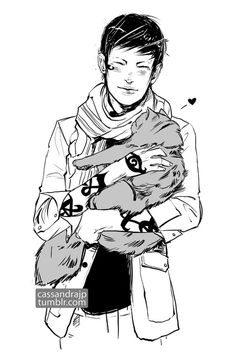 """cassandrajp:  """"Did Brother Zachariah just steal our cat?"""" Drew the Thanksgiving snippet! Happy Thanksgiving!!! Jem, stealing yo cat. You don..."""