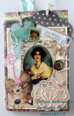 Yoltzin handmade cards: Porta-libretas Vintage