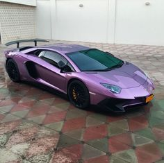 Lamborghini Aventador Super Veloce Coupe painted in Viola Pyxis  Photo taken by: @oman_3 on Instagram (He is also the owner of the car)