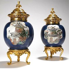 Chinese Potpourri Urns - From the boudoir of Marie Antoinette