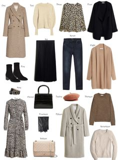 """These are the type of pieces I like to see in my wardrobe. This is what I call """"grown up"""" wardrobe! Capsule Outfits, Fall Capsule Wardrobe, Wardrobe Basics, Workwear Fashion, Work Fashion, Fashion Outfits, Womens Fashion, Fashion Blogs, Fashion Fashion"""