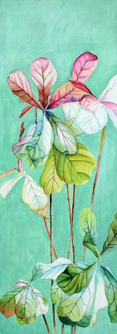 """Saatchi Online Artist: perry chow; Mixed Media, 2012, Painting """"A Plant in the Dining Room"""""""