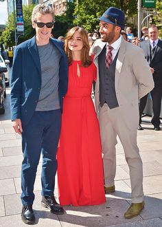 Peter Capaldi, Jenna Coleman and Samuel Anderson | Doctor Who World Tour | Cardiff, Wales | 7th August 2014