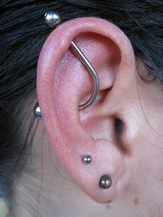 PAIR Double lobe helix earrings leaf jewelry woodland leaf jewelry two hole earring ear chain body jewelry double piercing cartilage earring - Custom Jewelry Ideas Types Of Ear Piercings, Body Piercings, Piercing Tattoo, Lip Piercing, Prom Earrings, Tiny Stud Earrings, Cartilage Earrings, Leaf Jewelry, Body Jewelry