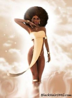 Natural Hair Black Women (drool....) http://www.shorthaircutsforblackwomen.com/pinterest-pins-black-hair/ #naturalhair Art