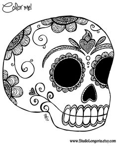 This Sugar Skull Coloring E-Book contains 21 pages of Day of the Dead skulls for you to color and print as many times as you want! Description from blerapy.blogspot.com. I searched for this on bing.com/images