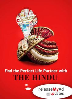 Trust Hindu Matrimonial Classifieds to find you the best Matrimonial Matches. Get started at http://hindu.releasemyad.com/rates/matrimonial