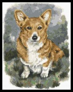 Corgi cross stitch kits