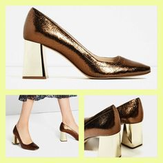2f3c2e04cb8 Zara crackled leather mid heel shoes 35-41 ref. 5217 101