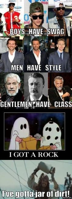 I like how the Classy Gentlemen are Ian McKellen, TR, and The Most Interesting Man in the World... Benchmarks, really...