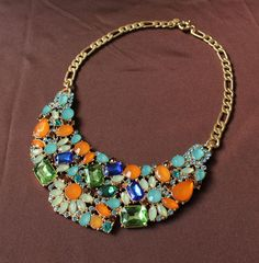 New Colorful Gemstone Necklace 2013 NEW JC90$22.50