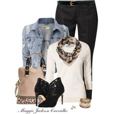 """""""Leather, Lace, and Leopard"""" by maggie-jackson-carvalho on Polyvore"""