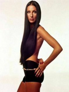 Cher, by Richard Avedon for Bulgari. Vogue, April 1972 - before she ruined her face with excessive surgery.