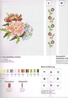Gallery.ru / Фото #154 - moj skan5 - markisa81 Mini Cross Stitch, Cross Stitch Borders, Cross Stitch Flowers, Cross Stitching, Cross Stitch Patterns, Birth Month Flowers, Stitch 2, Needlework, Diy And Crafts