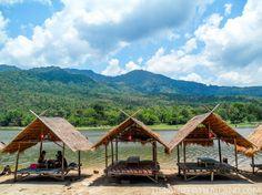 Shaded picnic areas at Huay Tung Tao Lake near Chiang Mai