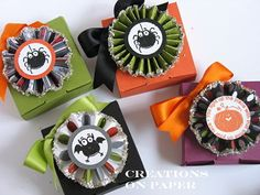 Cute Halloween boxes using Stamping Up stamps