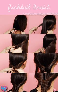 """Check out our """"how to"""" video for fishtail braiding!! <3 http://www.youtube.com/watch?v=Jh3PS27Tab4"""
