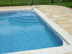 Custom pool steps will give you the WOW factor you are looking for in you pool. There is no limit to size or shape when it comes to a vinyl liner covered step. Pool Steps Inground, Swimming Pool Steps, Pool Fence, Pool Decks, Penguin Pools, Treads And Risers, Pool Contractors, Pool Coping, Concrete Pool