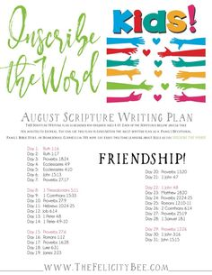 Scripture Writing Plan for Kids INSCRIBE THE WORD.