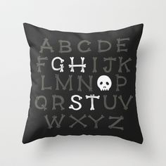 Somethin' strange in your alphabet Throw Pillow by Sarajea