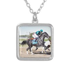 Just Call Kenny Silver Plated Necklace - horse animal horses riding freedom