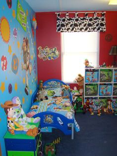 Toy Story Room! We're doing future baby's nursery like Andy's room, but I like the cow-print curtains :) Project for Momma! Right, @Donna Adams