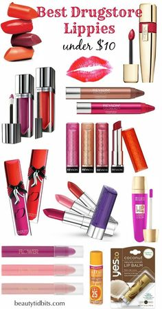 Best-Drugstore-Lip-Products only one that is missing is Mega Last from Wet N Wild! That one is simply the best
