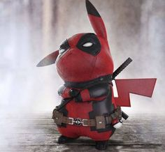 """Pokemon, Deadpool lovers or not you have to give it to Pikapool! Ralph Andres rendered image of When Pikachu Meets Deadpool """"Pikapool"""" went vital even more when Ryan Reynolds approved Pikapool and the hunt was Pikachu Pikachu, Deadpool Pikachu, O Pokemon, Deadpool Art, Deadpool Funny, Pokemon Funny, Pokemon Cosplay, Pokemon Fusion, Deadpool Wallpaper"""
