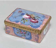 Staffordshire Enamel Snuff Box, 1770
