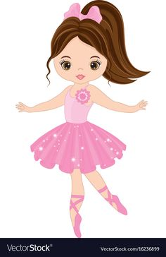 Vector cute little ballerina dancing Vector ballerina girl in pink dr Ballerina Cartoon, Ballerina Kunst, Ballerina Dancing, Little Ballerina, Cartoon Memes, Cartoon Art, Cartoon Drawings, Cartoon Characters, Ballerina Silhouette