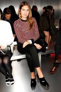 Front row semanas de la moda Paris otono invierno 2014