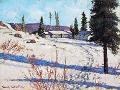 Mining Camp at Great Bear Lake is a painting created by Frank Johnston in Find out more at Mayberry Fine Art. Snow Scenes, Winter Scenes, William Kurelek, Group Of Seven Paintings, Snow Art, Canadian Artists, Interesting History, Winter Landscape, Western Art