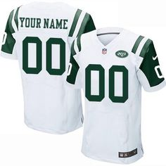 Custom Nike New York Jets White Jersey