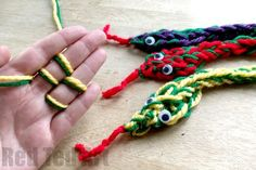 Finger Knitting Snakes